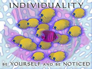 Individuality-Be-Yourself-And-Be-Noticed-Fishes